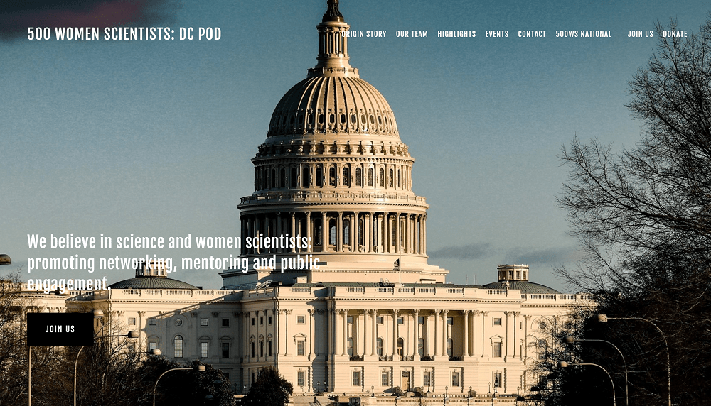 500 Women Scientists DC Pod Website Launch